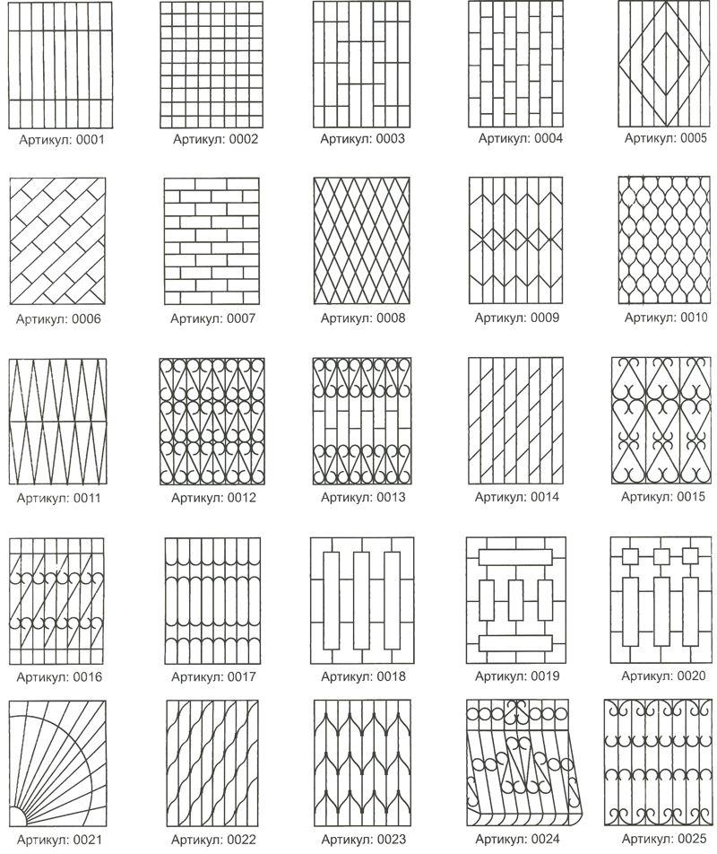 решетки металлические на окна сварные